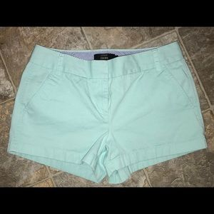 J. Crew Chino Short size 6 mint green color